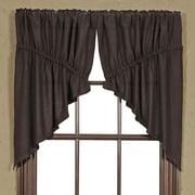 VHC Brands Classic Country Farmhouse Kitchen Window Curtains - Burlap Tan Prairie Swag Pair, x King, Natural