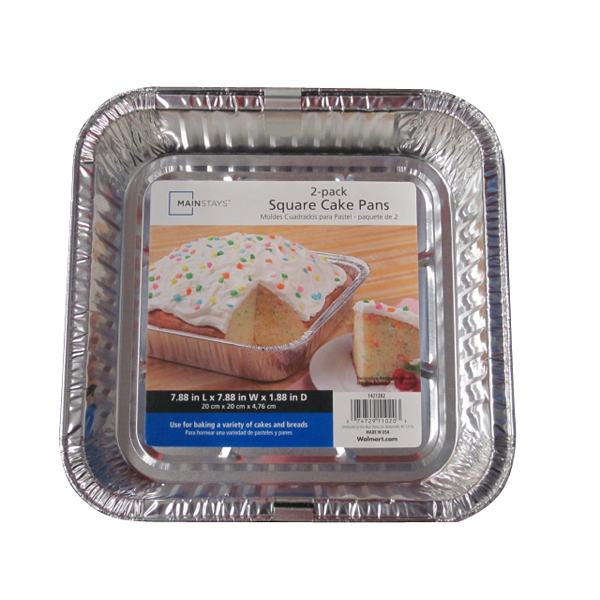 Mainstays Square Cake Pan, 2 ct by Durable Packaging