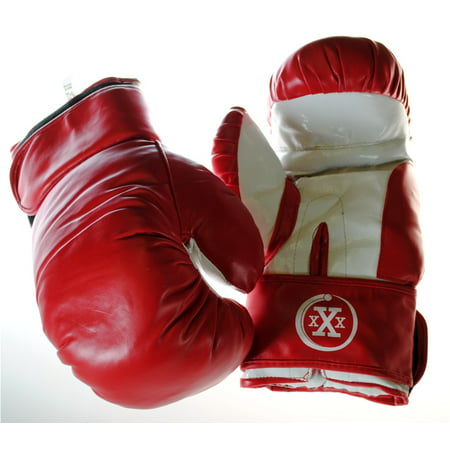 Triple Threat Quick Strap Fitness Training Boxing Gloves - Red - Child - 6oz - Toddler Boxing Gloves