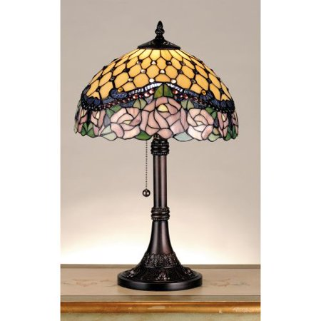 Meyda Tiffany 82304 Stained Glass / Tiffany Accent Table Lamp from the Jeweled Rose -