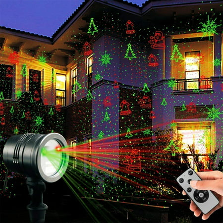 Laser Decorative Lights Garden Laser Light Projector + Remote Control Indoor Outdoor Decorations 5W Light show (Green, Red, Cola, Bell) for Halloween, Christmas, Party, Holiday etc. - Regular Show Halloween Iv