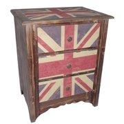 Cheung's FP-3280 3 Drawer Union Jack Cabinet