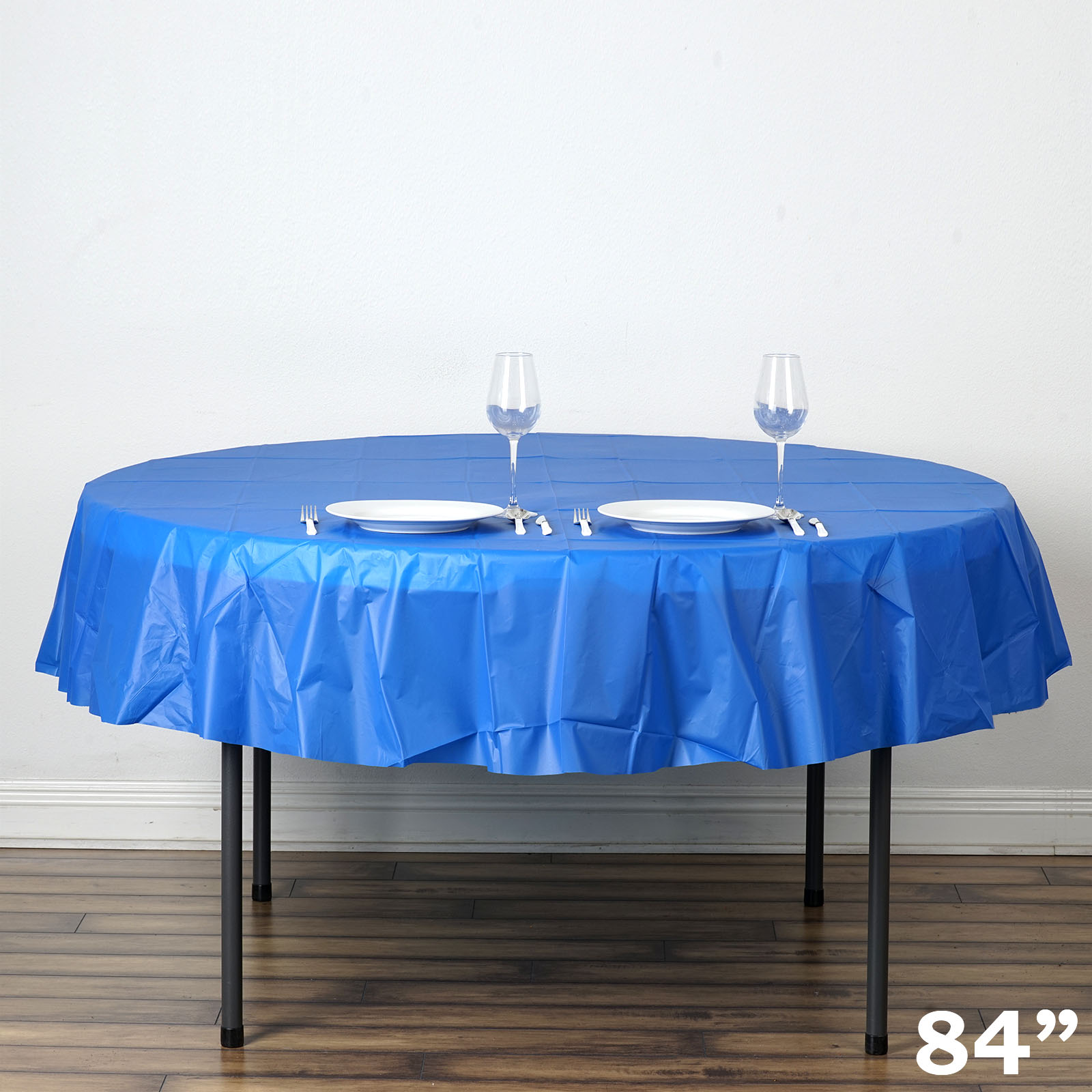 Balsacircle 84 Round Disposable Plastic Tablecloth Table Cover Party Picnic Covers Decorations
