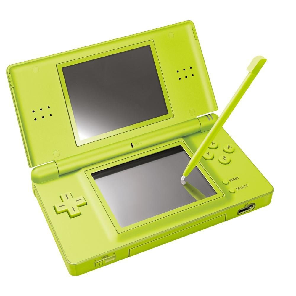Nintendo DS Lite LCD Dual Screen Wireless Video Game Console - Lime Green