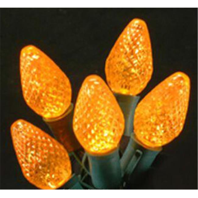Queens of Christmas C-25C7OR-12G 25 ft.  Commercial Grade A String of Orange C7 E12 Base LED Lights
