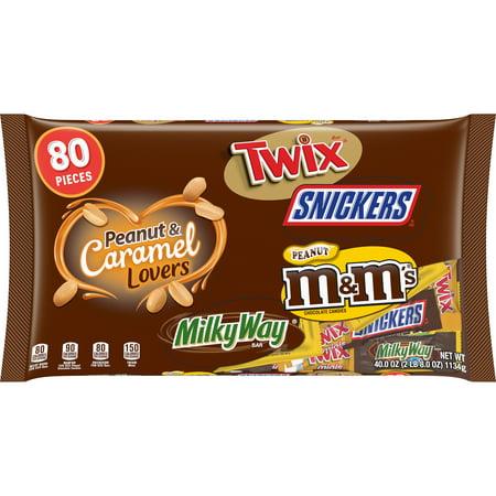 MARS Chocolate Halloween Mixed Chocolate Peanut And Caramel Lovers Candy, 40 Ounce, 80