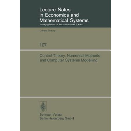 Control Theory, Numerical Methods and Computer Systems Modelling : International Symposium, Rocquencourt, June 17-21,