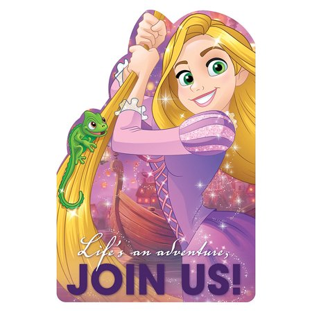 - Disney Dream Big Princess Rapunzel Birthday Girl Party Invitations 16 Count with Save the Date Stickers