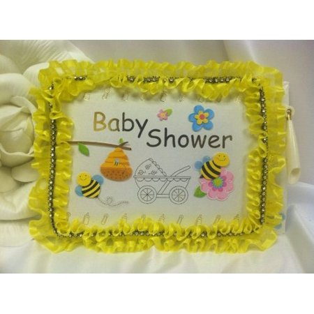 Baby Shower Bumble Bee Handcrafted Guest Book Party Keepsake Gift - Gifts For Baby Shower Guests