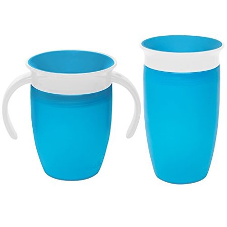 - Munchkin Miracle 360 Degree No-Spill Trainer and 10 Ounce Cup, Twin Pack, Blu...