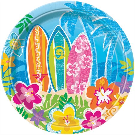 Luau Party Supplies Clearance ((3 Pack) Luau Dessert Plates (8)