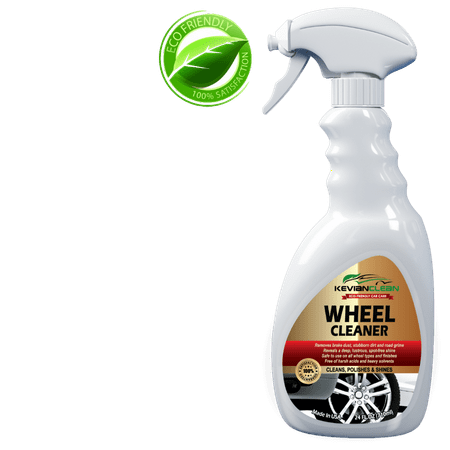 (Car Wheel Cleaner by KevianClean - Best Alloy, Chrome Plated, Aluminum, Rim, Tire and Brake Dust Cleaner - High Foaming for Polishing & Dressing for Extra Shine -Easy Spray Eco-Friendly Formula)