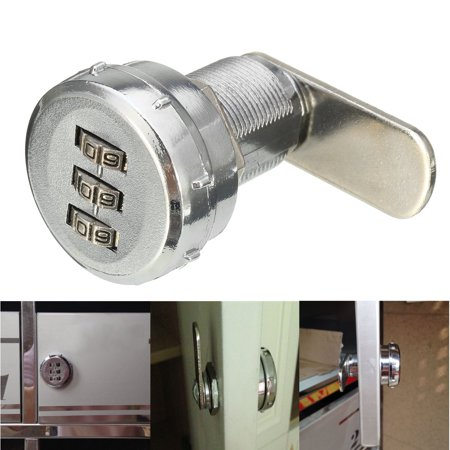 3 Digital Code Combination Cam Lock Locker For Mail Box Cabinet Drawers Storage Box Security Zinc Alloy Home