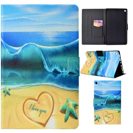 iPad mini 4 Case, iPad mini 2 3 Case, Allytech PU Leather Multi Angle Stand Smart Cover Auto Sleep Wake Folio Full Protective Magnetic Covers and Cases for Apple iPad mini 1 2 3 4, Starfish Sea
