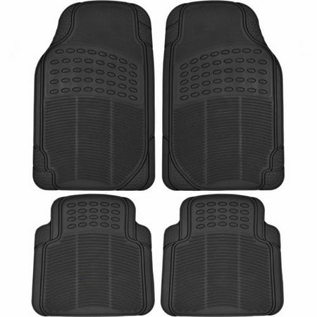 Bdk Heavy Duty 4 Piece Front And Rear Rubber Car Floor