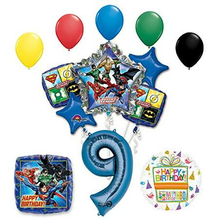 The Ultimate Justice League Superhero 9th Birthday Party Supplies - Justice League Birthday Party