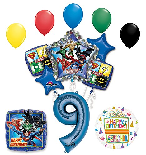 The Ultimate Justice League Superhero 9th Birthday Party Supplies