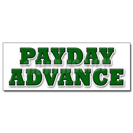 48  Payday Advance Decal Sticker Quick Ez Easy Credit Loans Fast Money Loan