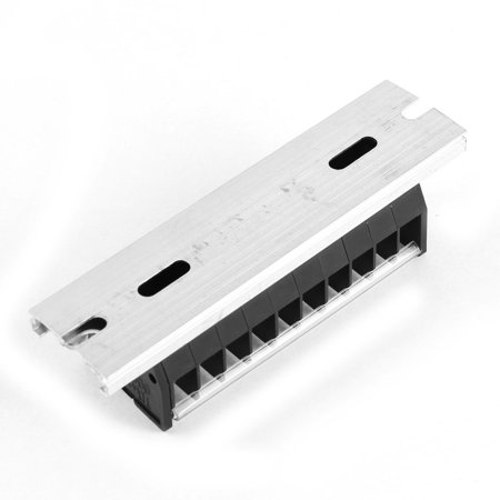 600V 15A Dual Row 10 Positions Screw Electric Wire Connection Barrier Terminal - image 1 of 3