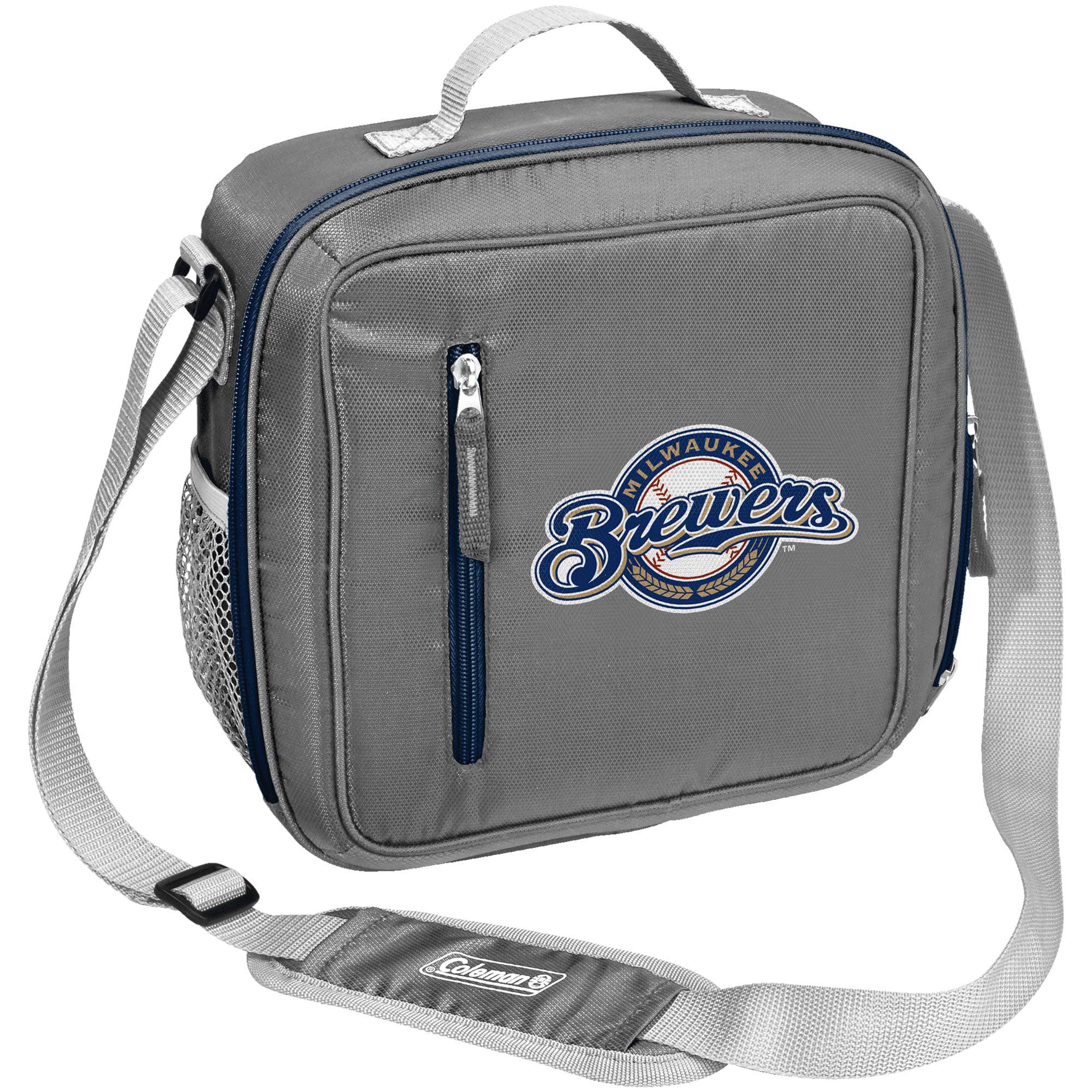Milwaukee Brewers Coleman Team Logo Messenger Cooler - No Size