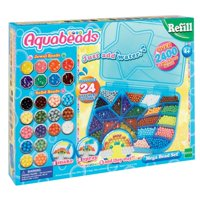 Aquabeads Mega Bead Set - Includes 2400+ Jewels & Solid Beads in 24 Different Colors!