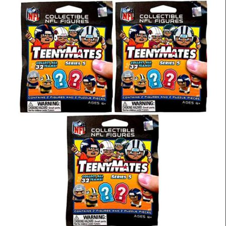 NFL TeenyMates Series 5 Linemen LOT of 3 Mystery Packs ()