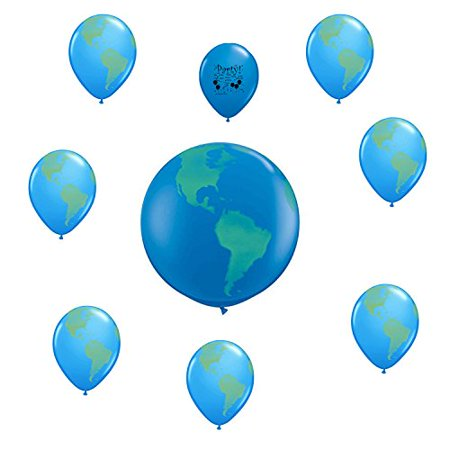 Globe World Planet Earth Party Balloon Decoration - World Globe Decorations