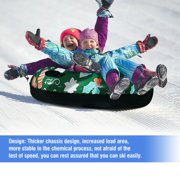 Skiing Ring With Handle Pvc Snow Sled Tire Tube For Kid Ski Pad Outdoor Sports