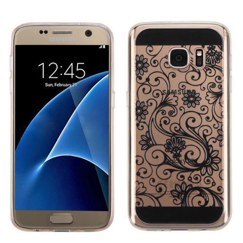 For Samsung Galaxy S7 Four-leaf Clover Slim Candy Skin Armor Cover Case