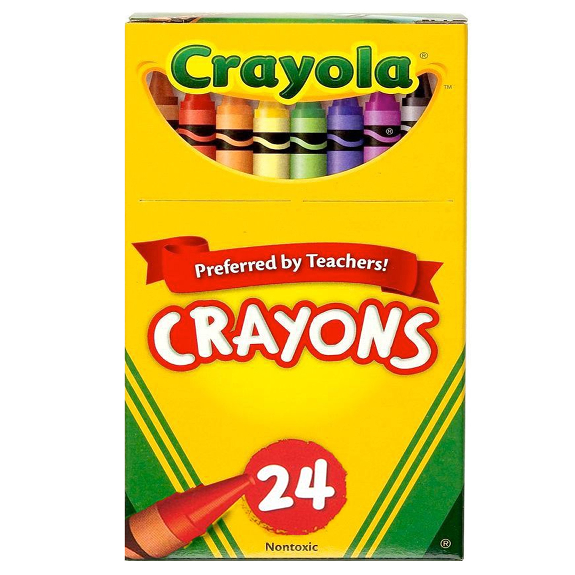 Crayola Crayons, Reg Size, 24 Colors Per Box, Set Of 12 Boxes