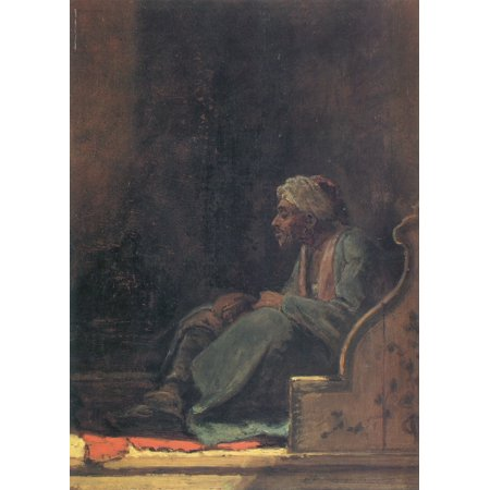 Framed Art for Your Wall Spitzweg, Carl - Left sitting Turk, before him a red carpet 10 x 13 Frame