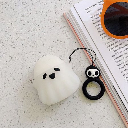 Fancyleo Airpods Case 3D Cute Cartoon Ghost Airpods Cover Soft Silicone Cover Cases for Apple Airpods 1st/2nd Charging Case Airpods Case 3D Cute Cartoon Ghost Airpods Cover Soft Silicone Cover Cases for Apple Airpods 1st/2nd Charging Case