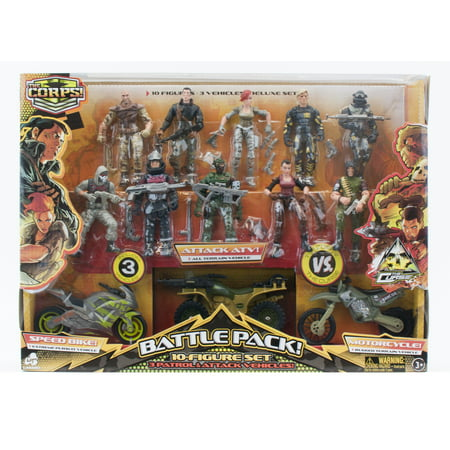 The Corps Special Forces 10 Action Figures and Vehicle Deluxe (Bioshock Big Daddy Ultra Deluxe Action Figure)