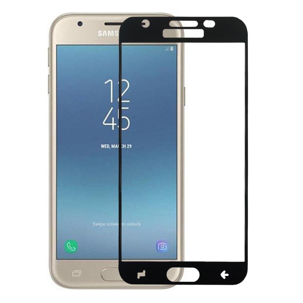 For Tracfone/StraightTalk Samsung Galaxy J3 Orbit (S367VL) Case Temper  Glass Anti Scratch [Full Screen Coverage] Glass Screen Protector - Black