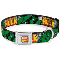 marvel comicsdog collar ava-marvel comics - the incredible hulk action pet collar