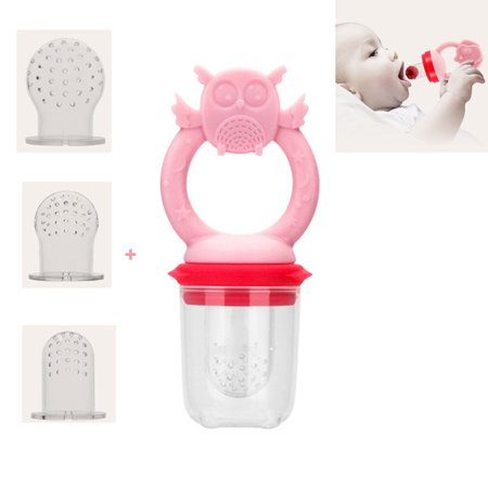 Baby Feeder Toys - Fresh Food & Fruit Feeding Pacifier in Appetite Stimulating Colors ,Training Finger Toothbrush - Blinkies Toy