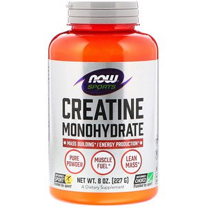 Foods Creatine Powder - Now Foods, Sports, Creatine Monohydrate, Pure Powder, 8 oz (227 g) (Pack of 2)