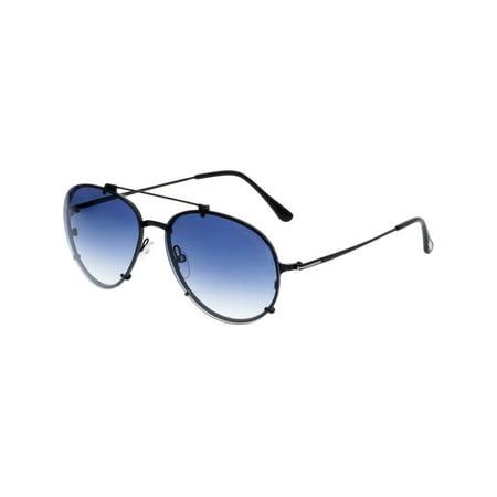 Tom Ford Gradient Dickon FT0527-01W-59 Black Aviator Sunglasses - image 3 of 3