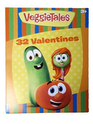VeggieTales 32 Classroom Valentines Cards by Paper Magic