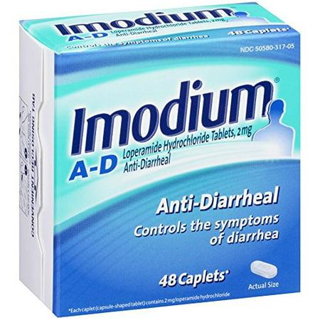 4 Pack Imodium antidiarrhéiques 48 Caplets lopéramide Chlorhydrate Chaque