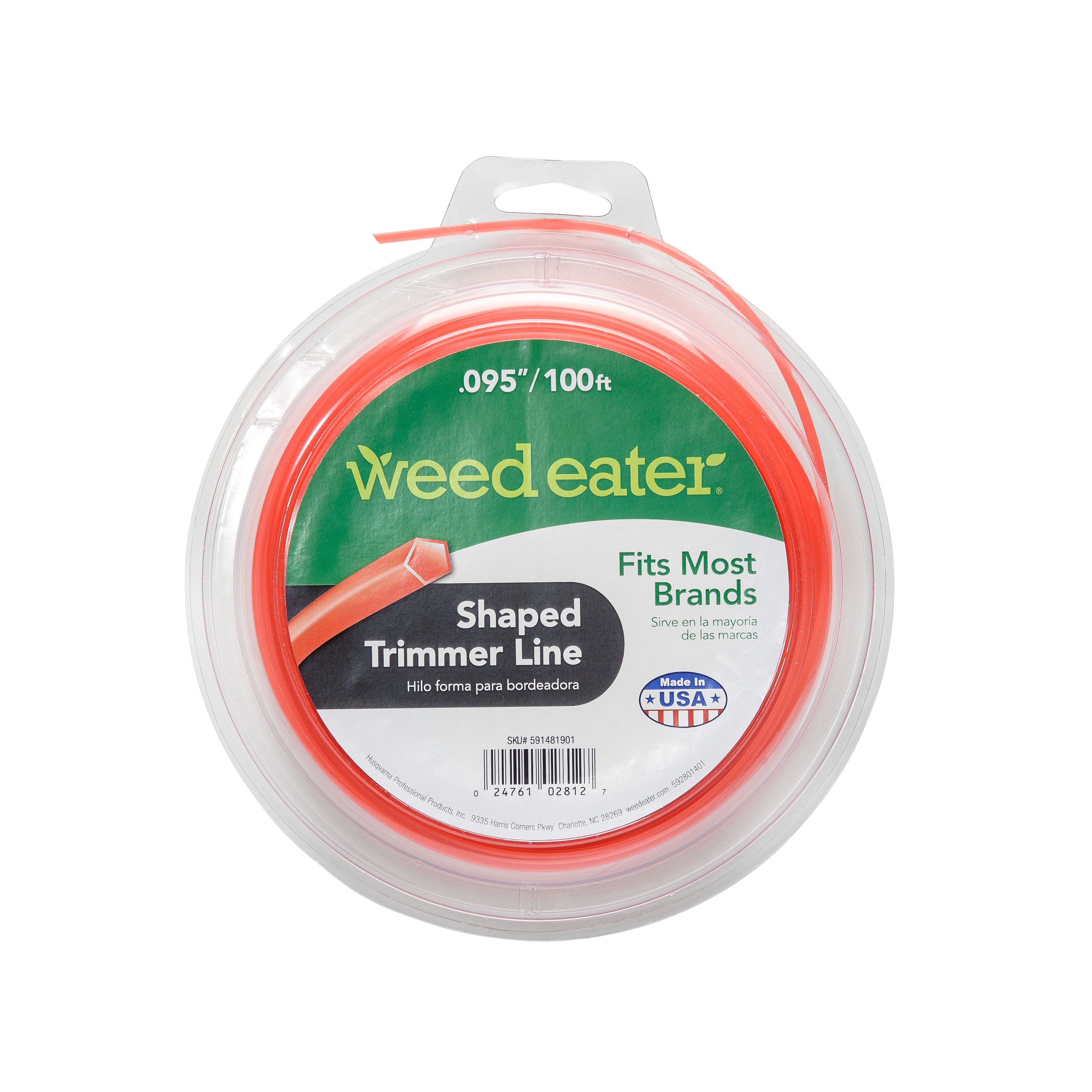 Weed Eater .095x100 Shaped Replacement String Trimmer Line