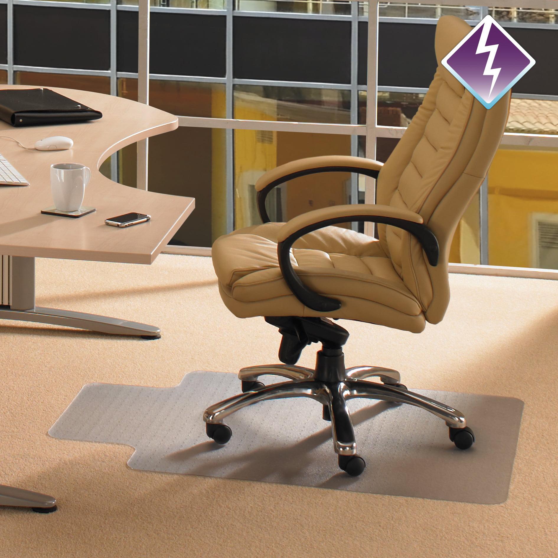 Floortex Computex Advantagemat 36 x 48 Chair Mat for Standard Pile Carpet, Rectangular with Lip
