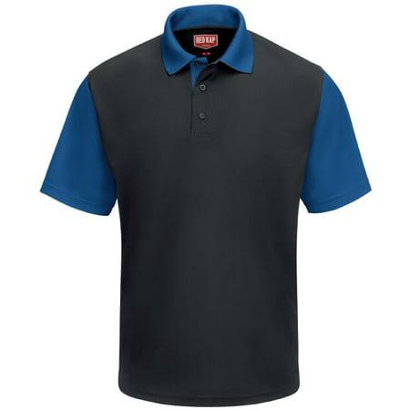 Men's Short Sleeve Performance Knit Color-Block Polo