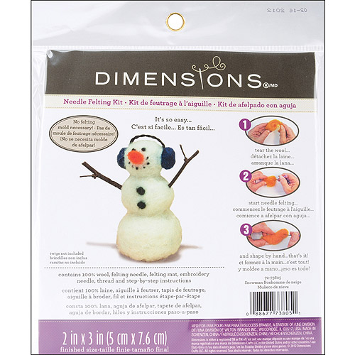 Dimensions Feltworks Little Felted Characters, Snowman