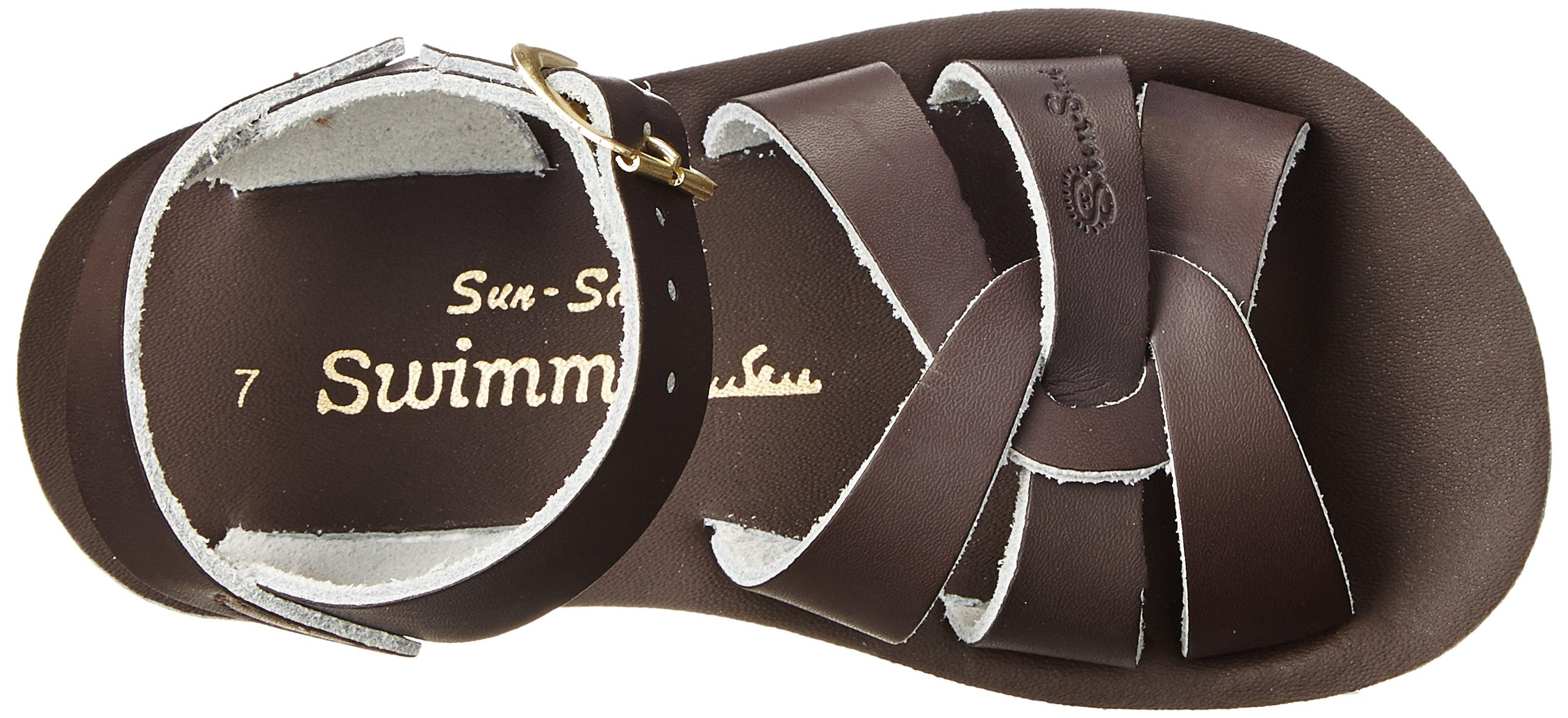 Salt Water Sandals by Hoy Shoe Sun-San Swimmer Kid - Brown - Little Kid Swimmer 1 - 8002-BROWN-1 6e79d4