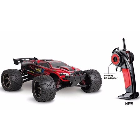 Rtr 2wd Stadium Truck - 1/12 Scale 2.4Ghz Radio Remote Control 2WD Off Road Racing Truck Truggy 38+Kmh R/C RTR (Red)