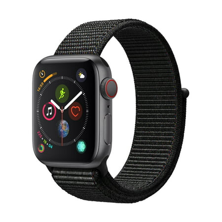 Apple Watch Series 4 GPS + Cellular - 44mm - Sport Loop - Aluminum Case (Bushnell Neo Gps Watch)