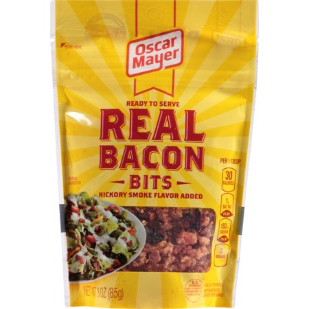 Oscar Mayer Bacon   Breakfast Sausage Real Bacon Bits Ready To Serve  3 Oz