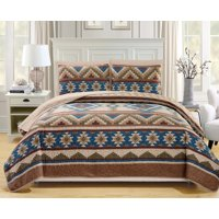 6 Piece Southwest Reversible Bedspread/Quilt with Sheet Set