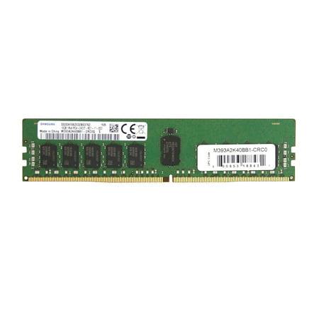 SAMSUNG Server Memory DDR4 16GB 288-Pin RDIMM Registered ECC DDR4-2400 CL17 (PC4-19200) 1Rx4 1.2V Model M393A2K40BB1-CRC